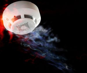 Smoke detector. Alarm and smoke in case of fire.